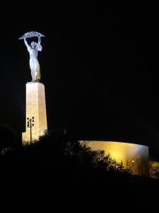 Buda statua gellert noc