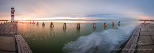 End of the year sunset in Podersdorf, Neusiedlersee