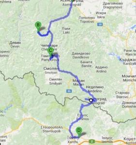 Rodopy mapa 2